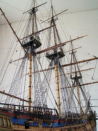 帆船模型完成品 HMS エレファン...
